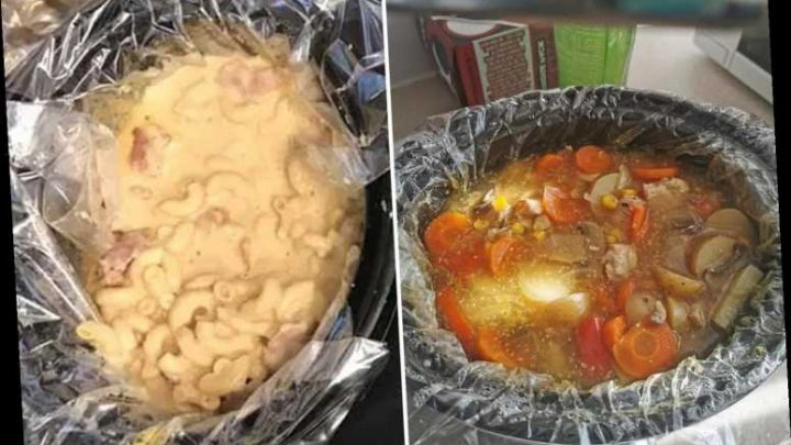 People are using slow cooker liners in their crock pots and it means no washing up