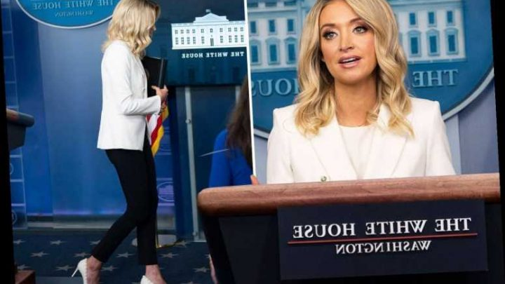 Trump's press sec Kayleigh McEnany walks OUT of briefing after slamming media when asked about her past virus comments – The Sun