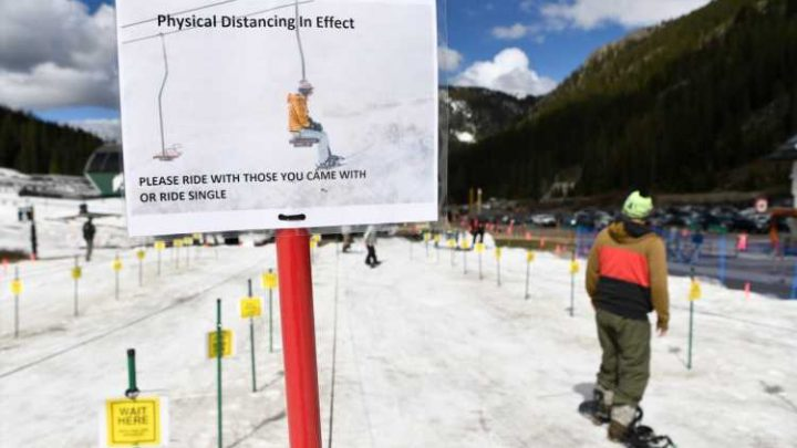 Reopening day at Arapahoe Basin after ski area shut down by coronavirus