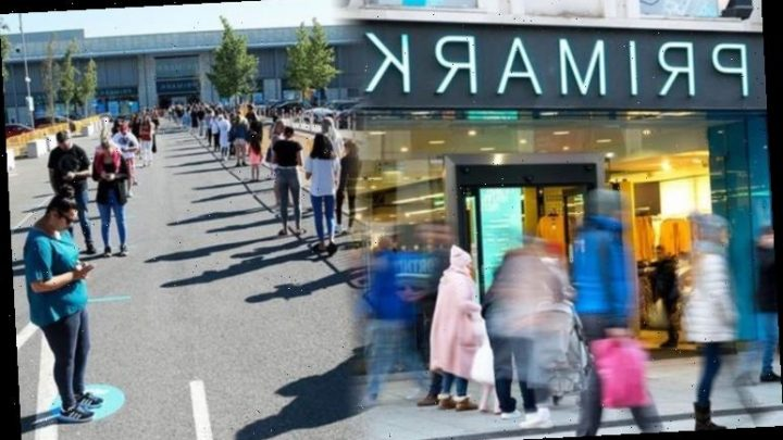 Primark shoppers queue overnight as stores reopen with new shopping rules