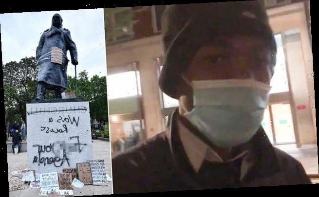 Black Lives Matter protester says he desecrated Churchill's statue