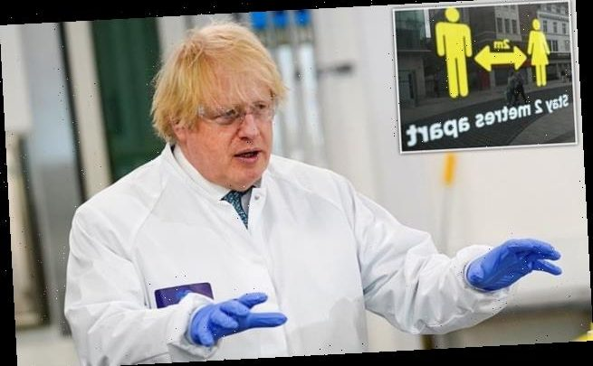 Boris Johnson might relax two-metre social distancing rule