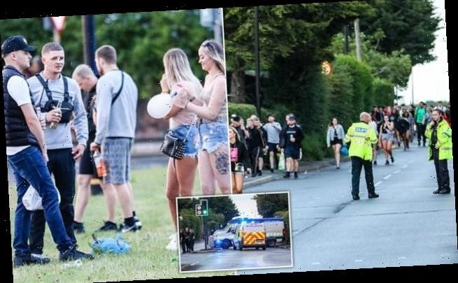 Police swoop on illegal rave attended by thousands in Manchester