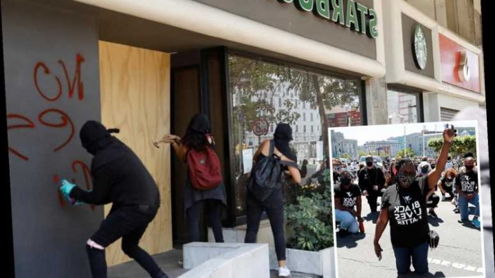 Starbucks faces boycott after banning employees from wearing Black Lives Matter clothing over fears of violence