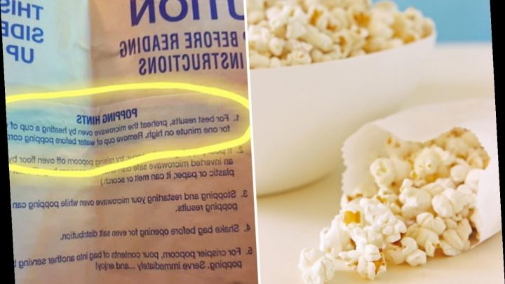 Foodies baffled as they realise you're meant to pre-heat microwave to make popcorn – so have you been doing it 'wrong'?