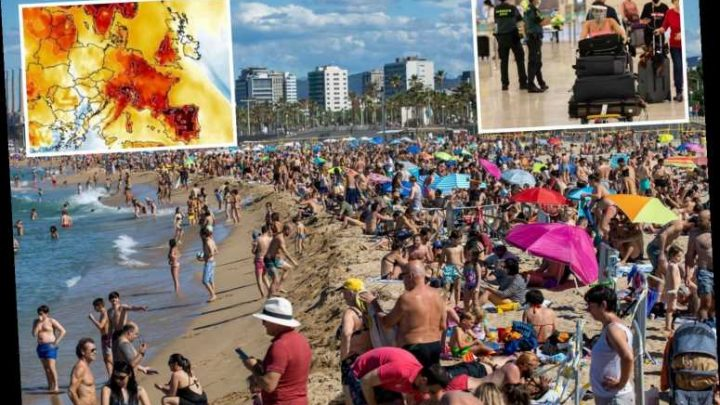 Spain set to swelter in record-breaking 40C heatwave this week as Brit tourists flock back to the beaches after lockdown