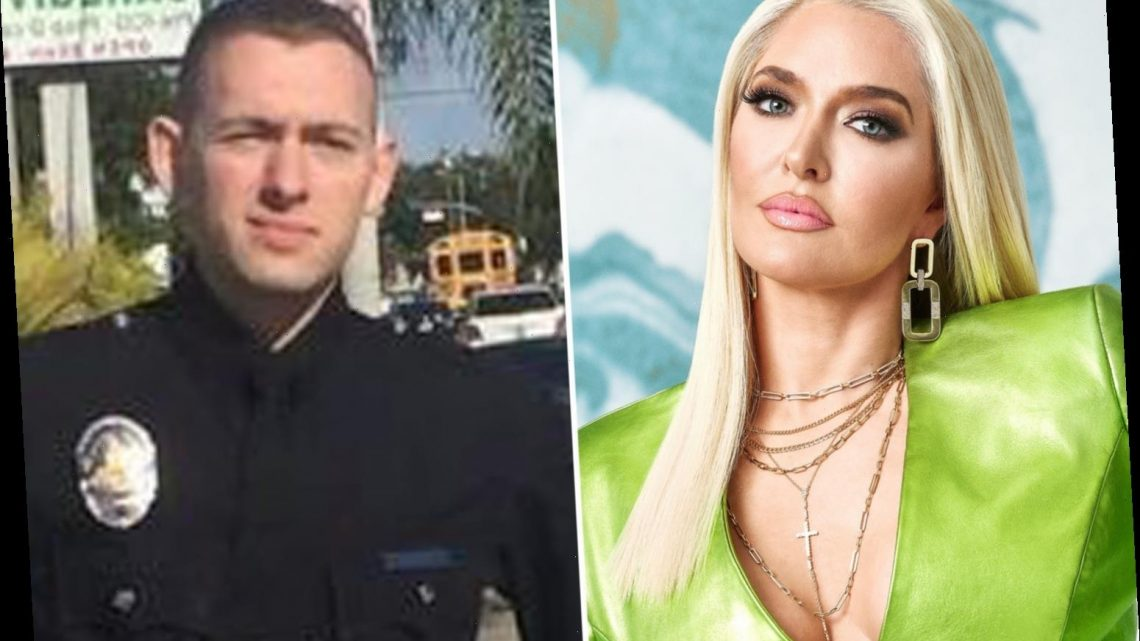 RHOBH star Erika Jayne slams fan who blasts cop son as she says 'his job is to protect and serve all'
