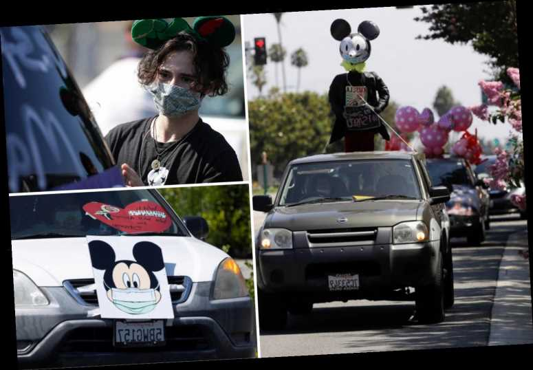 Disney workers parade past park to demand safe reopening as coronavirus cases surge – The Sun