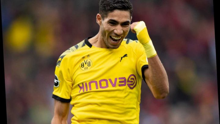 Man City scouting Real Madrid right-back Achraf Hakimi but face transfer competition from loan club Borussia Dortmund – The Sun