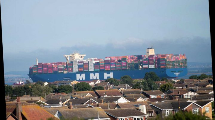 World's largest container ship bigger than the TITANIC arrives in UK for the first time