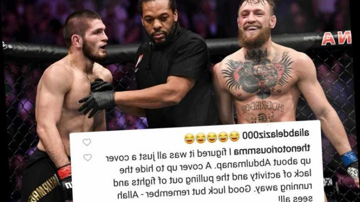 Conor McGregor claims Khabib's dad's coronavirus scare is 'cover-up' for UFC rival 'running away' in now-deleted post – The Sun
