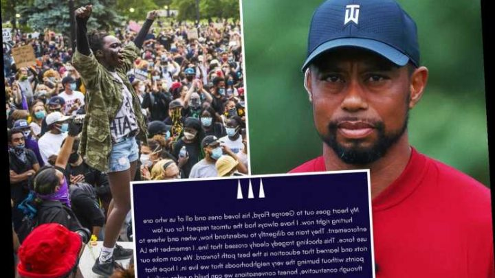 Tiger Woods urges George Floyd protesters to stop 'burning the very neighbourhoods that we live in' amid deadly US riots – The Sun