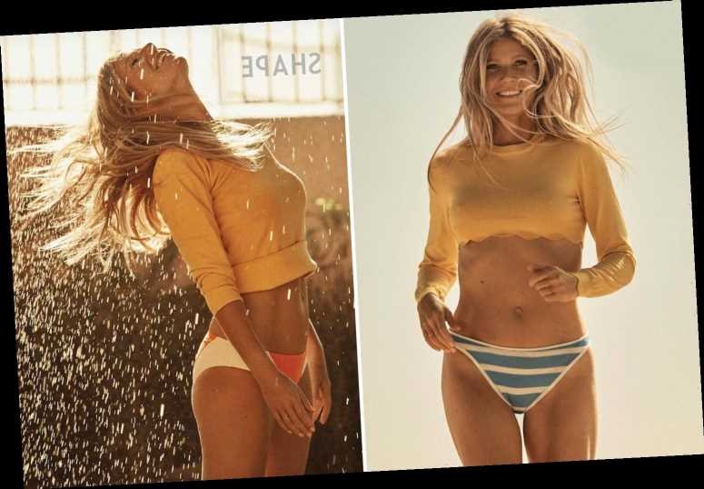 Gwyneth Paltrow, 47, shows off toned midriff in stunning snaps for magazine shoot