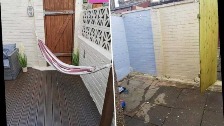 Thrifty woman creates magical outdoor area including a hammock after picking up bargains from B&M