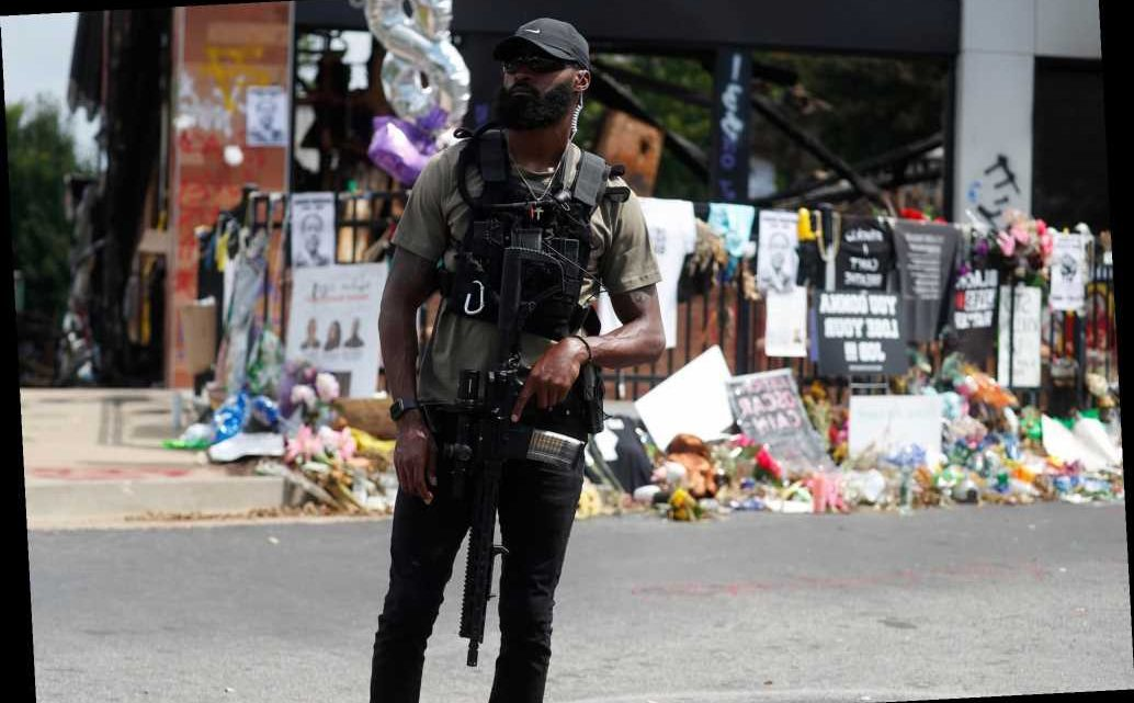 Armed protesters at Rayshard Brooks shooting site won't 'allow' cops