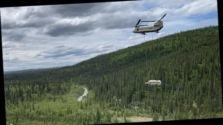 Alaska National Guard Airlifts Iconic Into the Wild Bus from Where It Sat for Decades