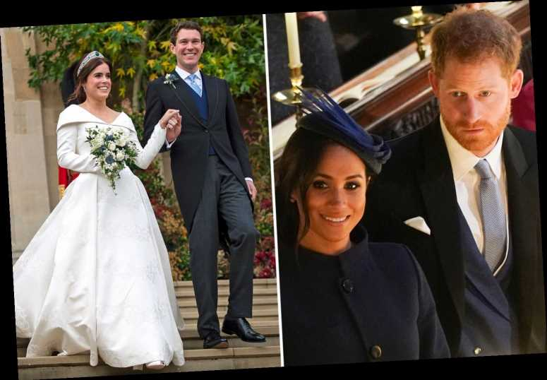 Meghan Markle 'embarrassed' Prince Harry by announcing pregnancy on Princess Eugenie's wedding day, new book claims – The Sun