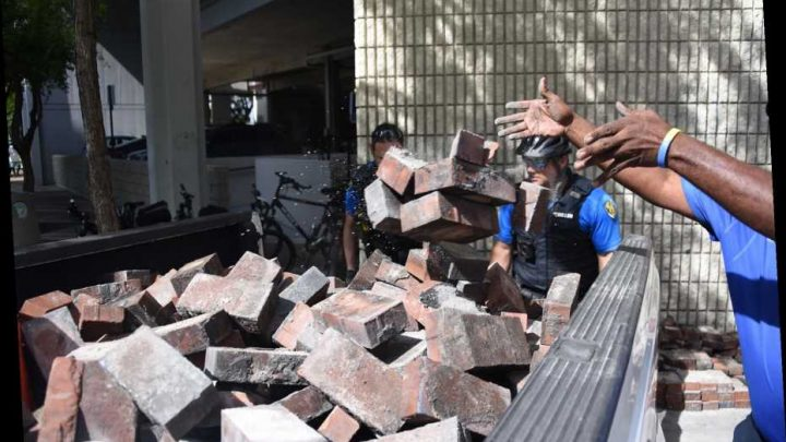 People Claim Authorities Are Intentionally Planting Bricks to Bait Protesters