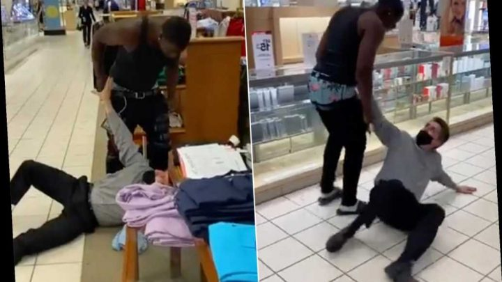 White man gets pummeled after using racial slur, video shows