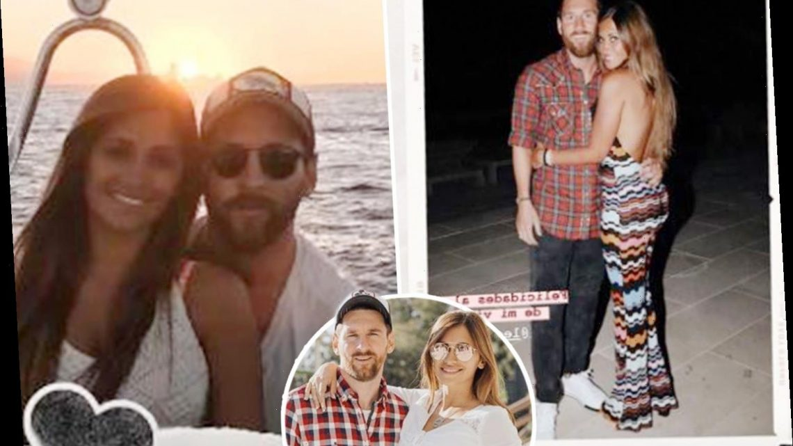 Lionel Messi's wife Antonela wishes Barcelona legend happy 33rd birthday with series of loved-up snaps of them together – The Sun