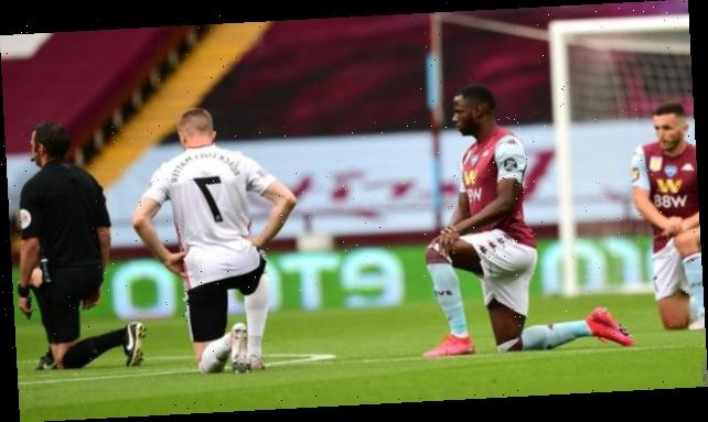 Aston Villa & Sheffield United players take a knee at kick-off