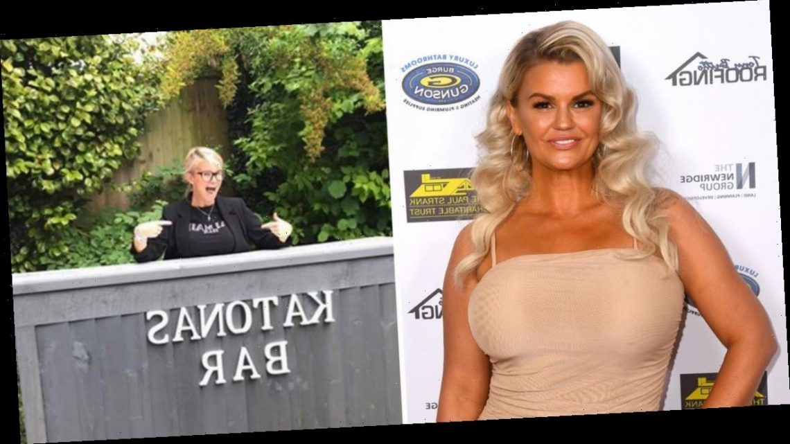 Kerry Katona opens her own bar in back garden as she compares herself to Coronation Street legend