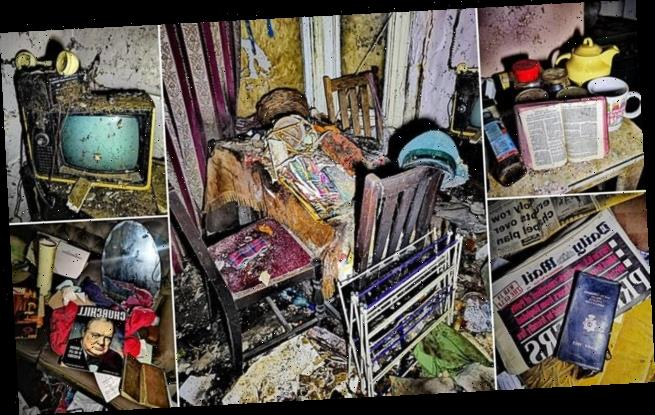 Inside the House of Sadness: Eerie shots from untouched abandoned home