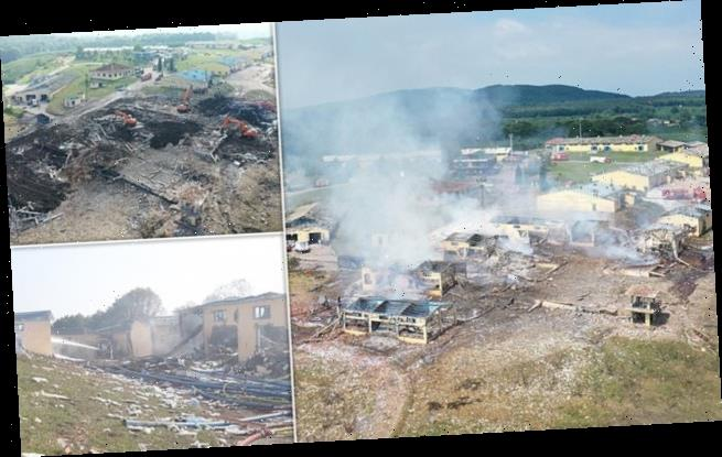 Three killed when truck explodes removing explosives from factory