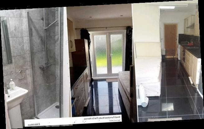 Landlord is slammed for offering a single bed in a KITCHEN as a flat