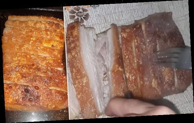 Home cook's VERY unusual method for 'melt in the mouth' pork crackling