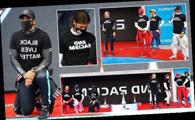 Lewis Hamilton hits out at F1 as drivers are rushed to take the knee