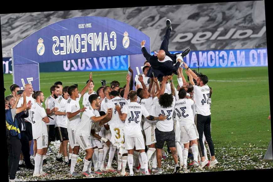 Watch birthday-boy Gareth Bale's half-hearted celebrations as Real Madrid win LaLiga title after latest  Zidane snub