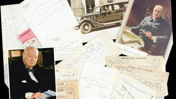 Unseen archive collected by Winston Churchill's chauffeur discovered in jigsaw box