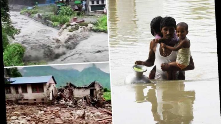 India flood – 189 killed and FOUR MILLION left homeless as devastating torrents rip through Assam province and Nepal
