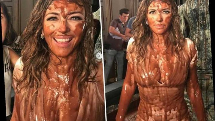 Liz Hurley, 55, shares sexy snap of herself covered in chocolate