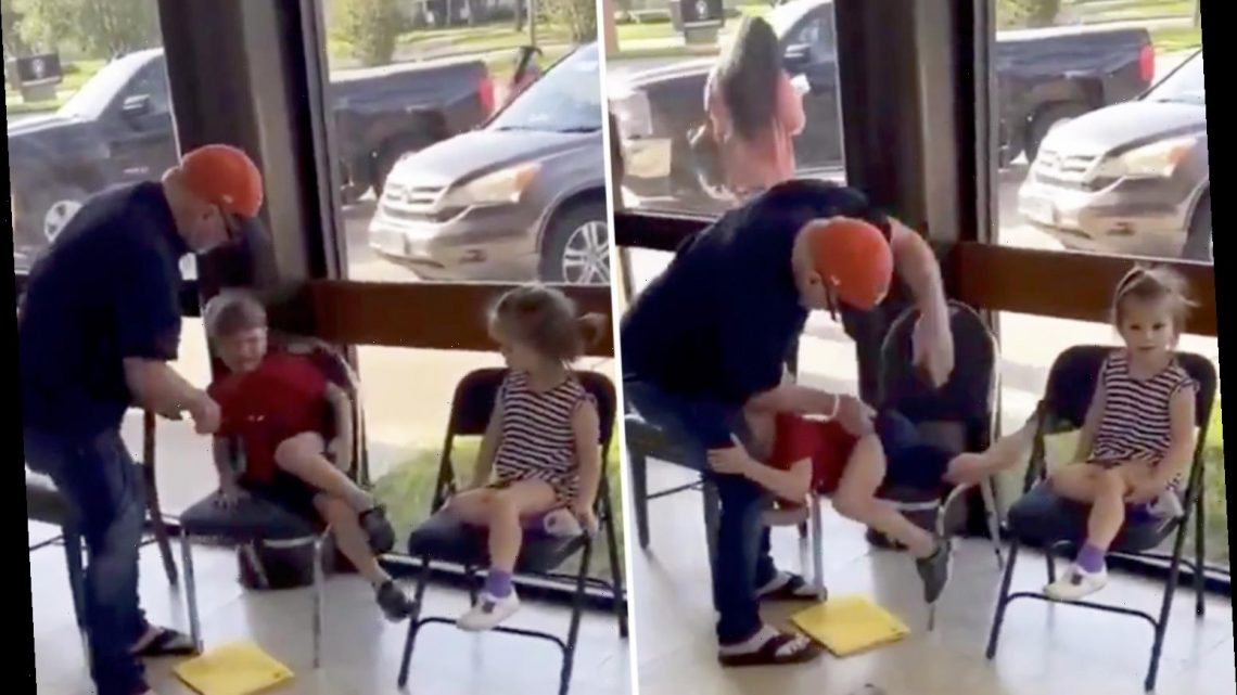 Parents divided over video of man brutally spanking a child in public – so is the punishment too severe?