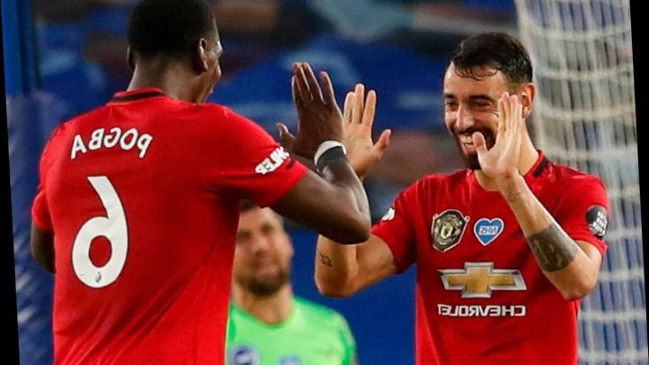 Bruno Fernandes almost scores twice from identical Pogba passes with Man Utd pair already showing brilliant connection – The Sun