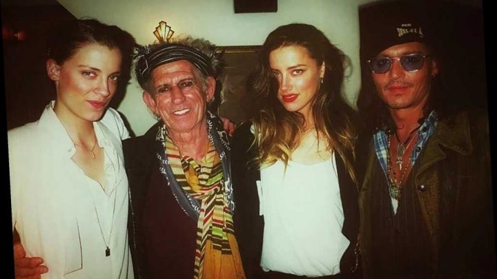 Lawyers claim this photo of Amber Heard with Johnny Depp, Keith Richards prove she lied