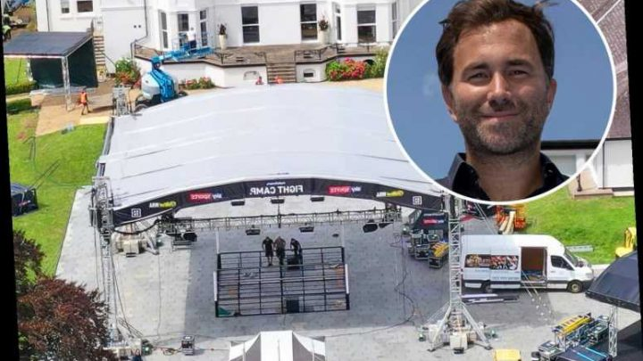 Eddie Hearn's Matchroom Fight Camp almost complete as ring is erected in garden of boxing promoter's stunning mansion