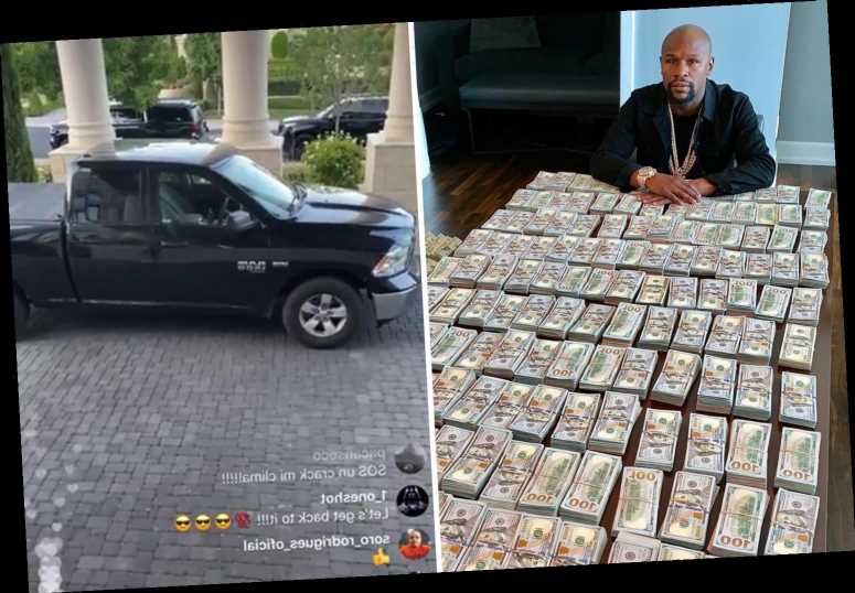 Billionaire Mayweather reveals he drives modest £22,000 truck every day because boxing legend wants to be 'low key' – The Sun
