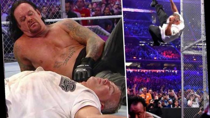 WWE star Shane McMahon 'blew out belly button' and had umbilical hernia in WrestleMania Hell in a Cell with Undertaker – The Sun