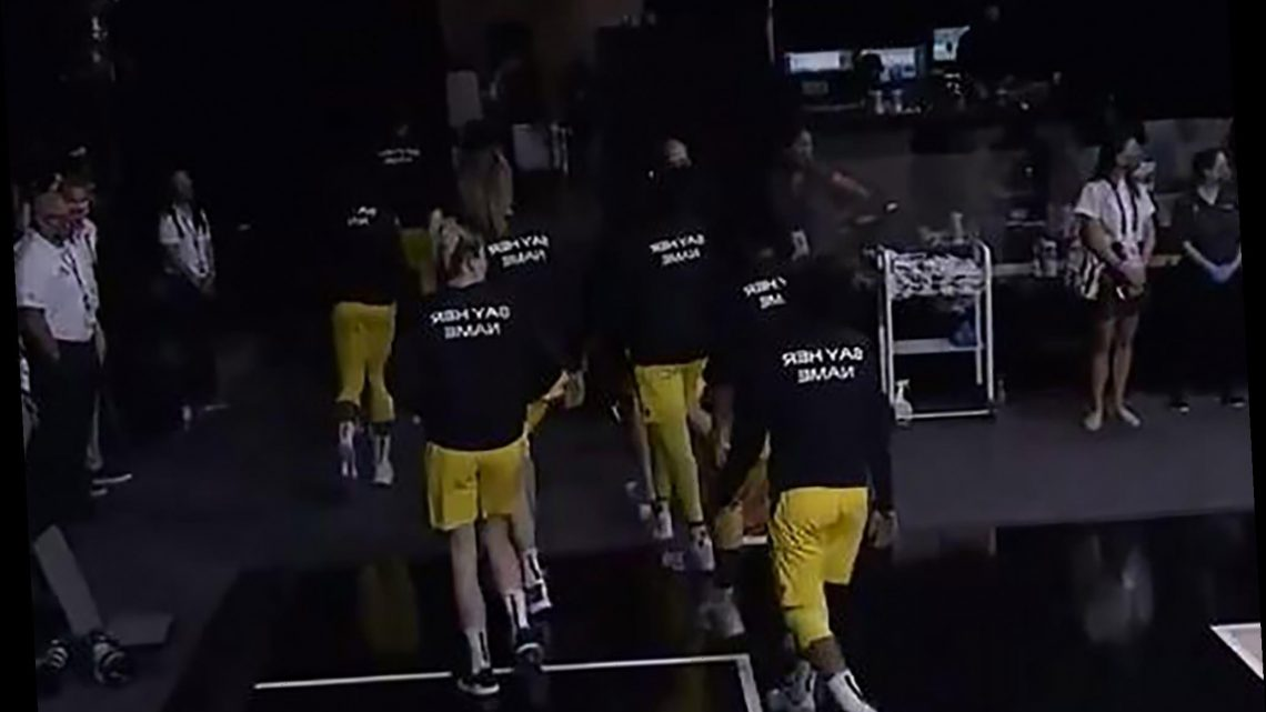 WNBA, NY Liberty players leave court during national anthem