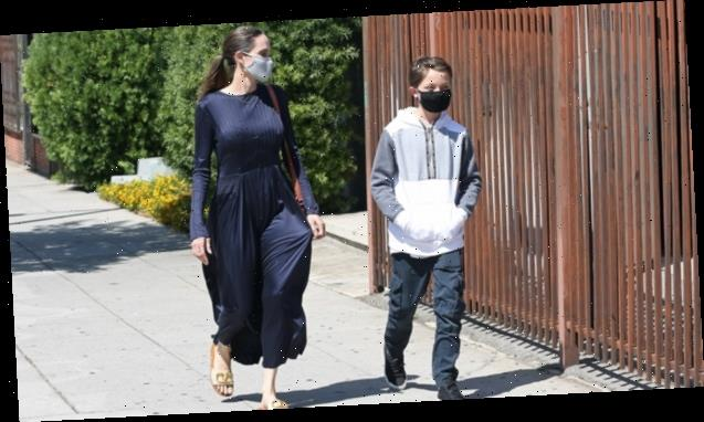 Angelina Jolie & Son Knox Head Out On Shopping Adventure 1 Day Before His 12th Birthday