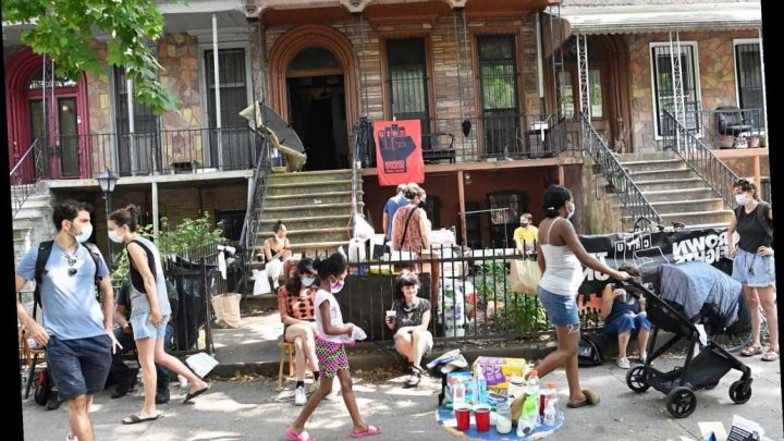 Protesters stop sudden eviction of out-of-work NYC tenants
