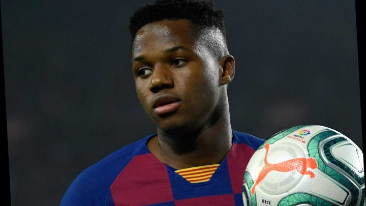 Barcelona 'want Ansu Fati to sign new contract ASAP in fear of Man Utd transfer.. with huge £274m release clause'