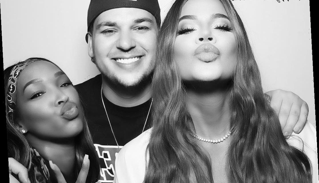 Khloé Kardashian Shares Selfie with Brother Rob Kardashian and Malika Haqq from Fourth of July