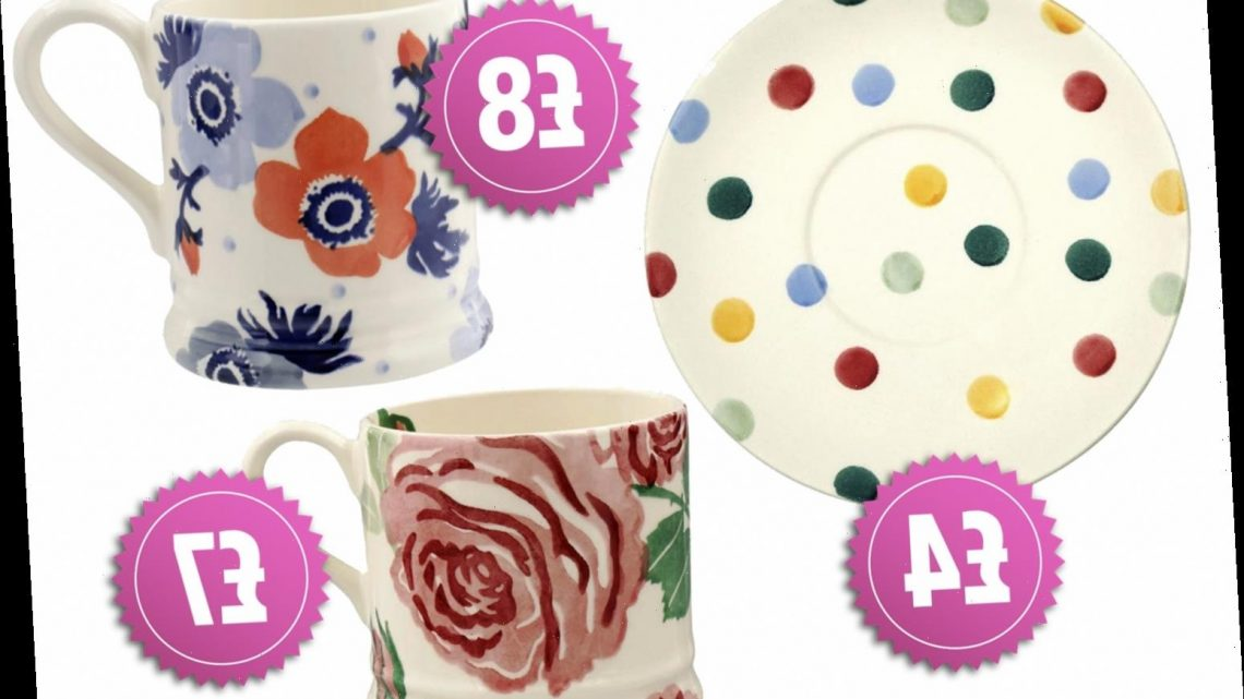 Emma Bridgewater is having a huge sale and you can pick up designer crockery for just £4