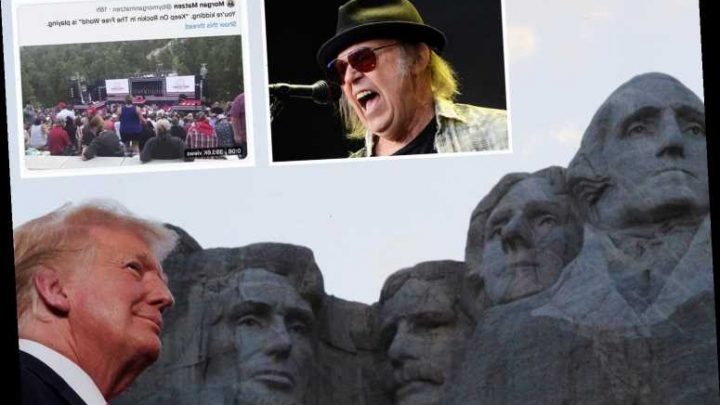 Neil Young slams Trump for using his songs 'Rockin' In The Free World' and 'Like A Hurricane' at Mount Rushmore rally – The Sun