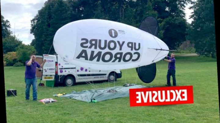 BBC blasted for spending licence-fee payers' money on 'Up Yours Corona' blimp