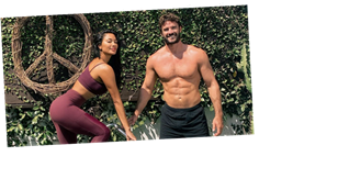 Nicole Scherzinger and boyfriend Thom Evans flaunt their incredible bodies in couples workout snap